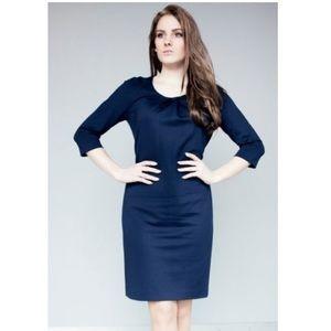 Hugo Boss Dresses - Hugo Boss 3/4 sleeve navy dress